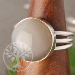 Moonstone Gemstone Ring Silver