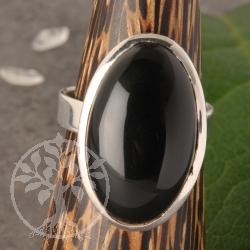 Onyxring Silber Nr004