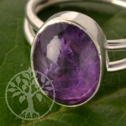 Amethyste Gemstone Ring Silver 925