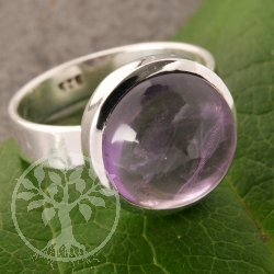 Amethyste Round Gemstone Ring Sterlingsilver