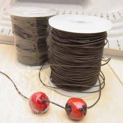 Leather ribbon small reel 1 mm darkbrown