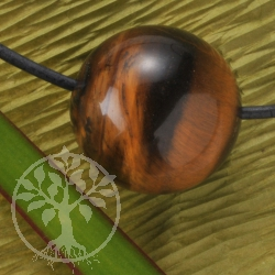 Tigers Eye Ball Pendant 15mm