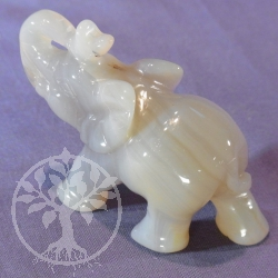 Achat Elefant Edelsteinfigur 58