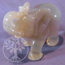 Grey Agate Figure Elephant