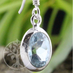 Ear Pendant oval Topaz faceted