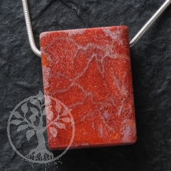 Coral Pendant Rectangled