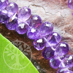 Amethyste Gemstone Beads drop faceted 6mm