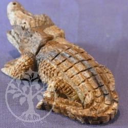 Krokodil Steinfigur Jaspis