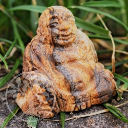 Buddha carving made from Landscape Jasper