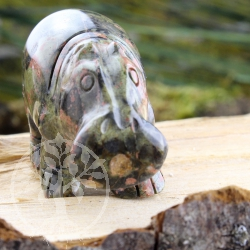 unakite Hippo Animal Figure unique