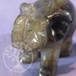 Steinfigur Labradorit Elefant 80