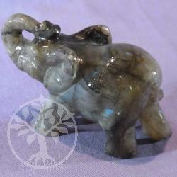 Steinfigur Labradorit Elefant 83