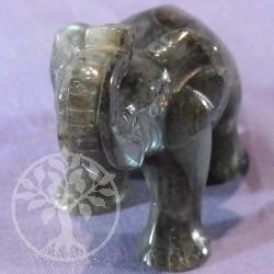 Steinfigur Labradorit Elefant 85
