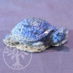 Steinfigur Schildkröte Lapislazuli 65