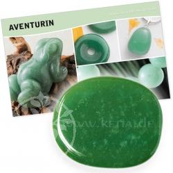Aventurin Halbedelstein Stein mit Karte für Bedeutung