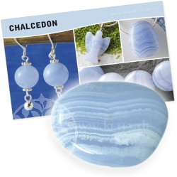 Blue Chalcedony Gemstone Set
