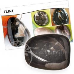 Flint Stein mit Karte Wirkung/Bedeutung