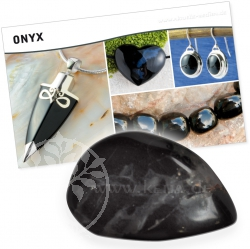 Onyx Black Stone Gemstone Set