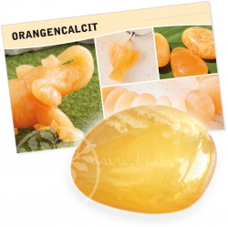 Orange Calcite Gemstone Set