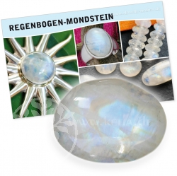 Moonstone Rainbow Gemstone Set