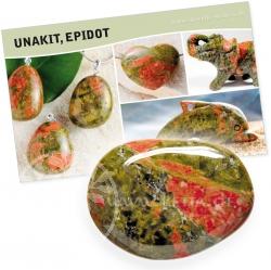 Unakit Stein mit Beschreibung auf Karte