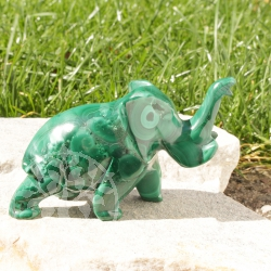 Elephant Malachite Gemstone Figure 06