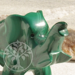 Elephant Malachite Gemstone Figure 08