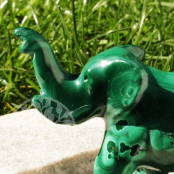 Elephant Malachite Gemstone Figure 05