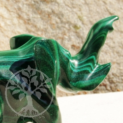 Elephant Malachite Gemstone Figure 12