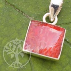 Korallenanhänger Quadtratisch Silber 925