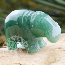 Aventurine Hippo Animal Figure unique