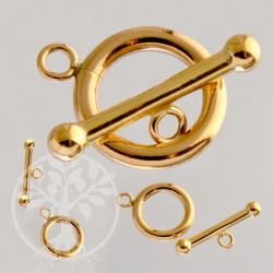 Toggle-Clasp Gold Filled Ring 12mm Toggle 18mm
