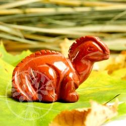 Dinofigur Roter Jaspis  Edelstein Dino