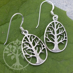 Silver Ear Pendant Tree of Life