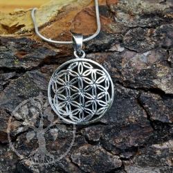 Blume des Lebens Silber Anhänger 04