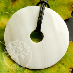 donut mother of pearl shell pendant