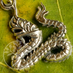 Silver dragon pendant small snake