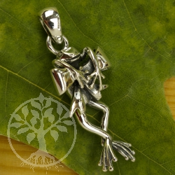 Silver Pendant Frog on loop