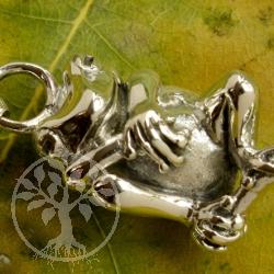 KISS ME Froschanhänger Silber Silberschmuck Frosch