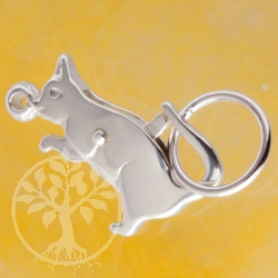 Jewelry Clasp Cat, Silver