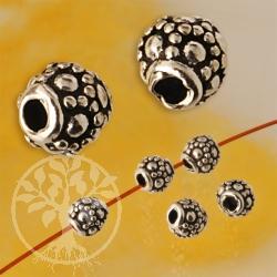 Blütenperle Silber 4,5 mm