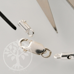 Clasp for Leather Silver925 1,5mm