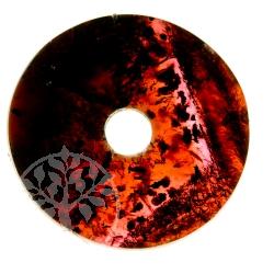 Granat Donut Edelstein Anhänger - Unikat 009 Feuerwolke