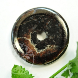 Granat Donut Edelstein Anhänger - Unikat 011 Blutelexir