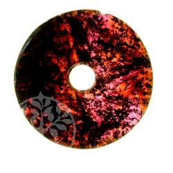 Granat Donut Edelstein Anhänger - Unikat 017 Weinstein