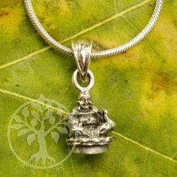 Buddha Glücksanhänger Silber