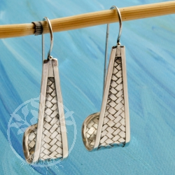 Silver Earring Triangle