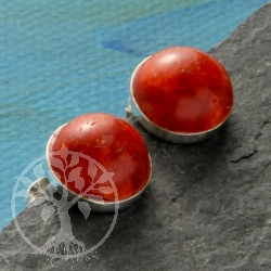 Red Coral Earrings hemisphere 10 Earrings