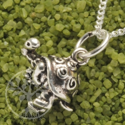 Funny Turtle Pendant Silver