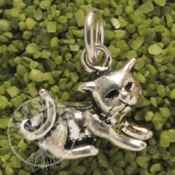 Schmusekatze Silberanhänger Katze Anhänger liegend